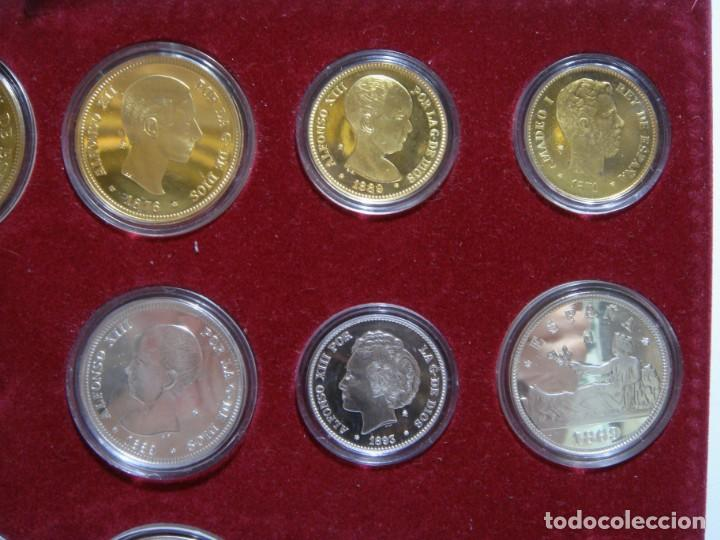 Monedas de España: HISTORIA DE LA PESETA. EMISION ESPECIAL PLATA Y ORO. 24 MONEDAS FNMT - Foto 3 - 137993970
