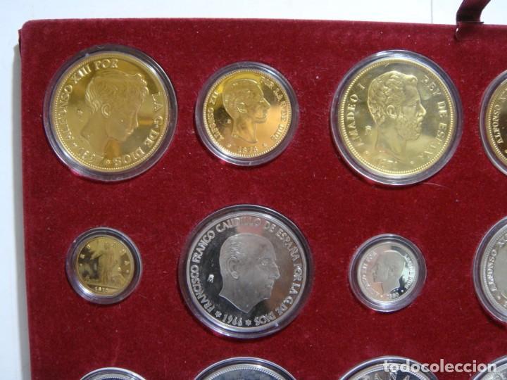 Monedas de España: HISTORIA DE LA PESETA. EMISION ESPECIAL PLATA Y ORO. 24 MONEDAS FNMT - Foto 4 - 137993970