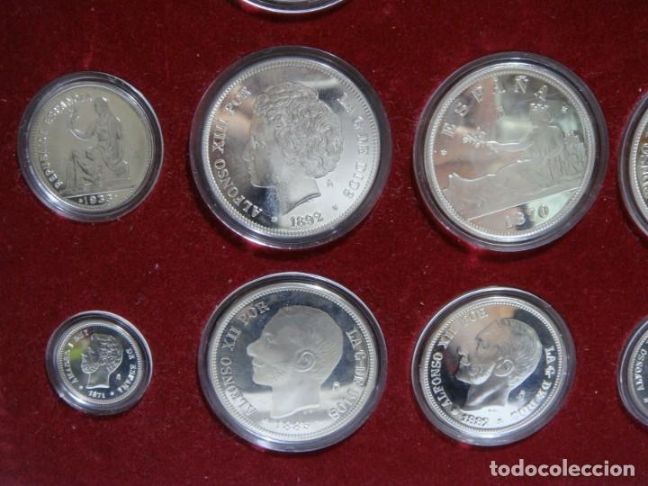 Monedas de España: HISTORIA DE LA PESETA. EMISION ESPECIAL PLATA Y ORO. 24 MONEDAS FNMT - Foto 5 - 137993970