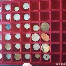Monedas de España: BANDEJA DE MONEDAS CON INTERESANTE LOTE NUMISMATICO. Lote 139074138
