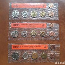 Monedas de España: LOTE DE 3 SERIES COMPLETAS DE ALEMANIA (18 MONEDAS),SIN CIRCULAR. Lote 139848510
