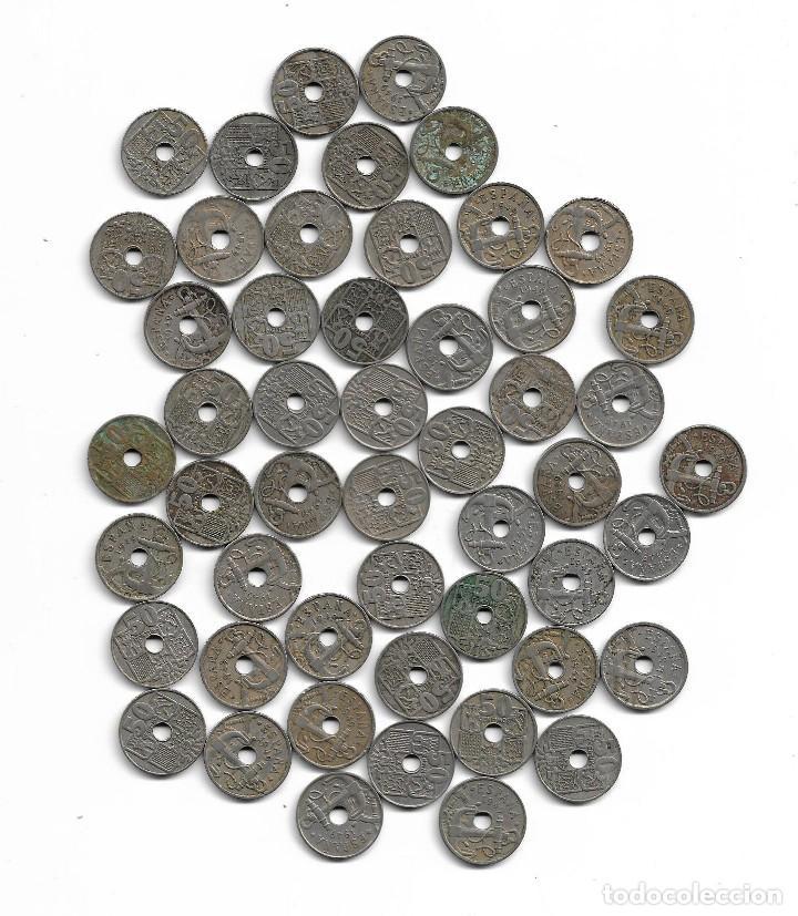 LOTE DE 50 MONEDAS DE 50 CENTIMOS DE 1949 (Numismática - España Modernas y Contemporáneas - Colecciones y Lotes de conjunto)