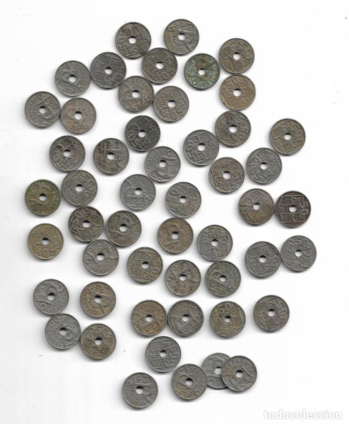 Monedas de España: Lote de 50 monedas de 50 centimos de 1949 - Foto 2 - 141771650