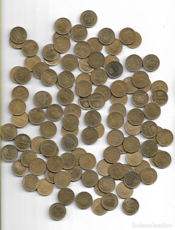 LOTE DE 110 UNIDADES MONEDAS DE PESETA DEL 1975-1980 (Numismática - España Modernas y Contemporáneas - Colecciones y Lotes de conjunto)