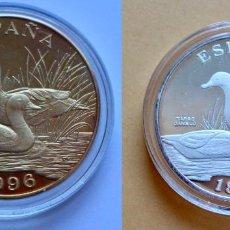 Monedas de España: PAREJA ECOMONEDAS- PRO CONSERVACION FAUNA IBERICA -ESPAÑA 1996- PLATEADA Y DORADA.TARRO CANELO. Lote 142502634