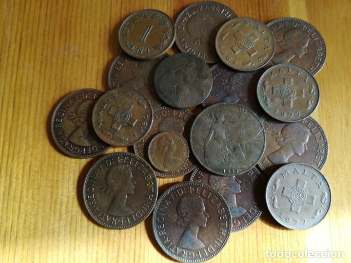 Monedas de España: set monedas de bronse inglaterra. malta - Foto 2 - 143141250