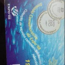 Monedas de España: MONEDA EMISIÓN CONMEMORATIVA DE LA EXPO 98 BRILLO ESPEJO Y RELIEVE MATEADO. Lote 146331454