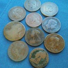 Monedas de España: LOTE BRONCES S XLX EUROPEOS. Lote 146386114