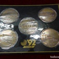 Monedas de España: ESTUCHE COLECCION MONEDAS CONMEMORATIVAS - EXPO SEVILLA 92 - . Lote 147336186