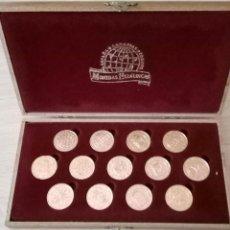 Monedas de España: 13 MONEDAS HERÁLDICAS BAÑADAS EN ORO 24K. ARRAS DE BODA CON ESTUCHE. Lote 147486962