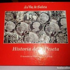 Monedas de España: HISTORIA DE LA PESETA. 15 MONEDAS EN PLATA MACIZA 1º LEY.. Lote 147877562