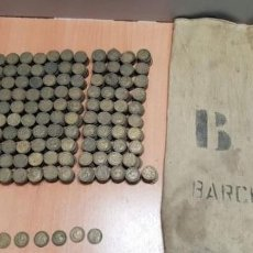 Monedas de España: LOTE DE 1450 MONEDAS 2,5 PESETAS CON SACA ORIGINAL DE BANCA AÑOS 70. Lote 149004794
