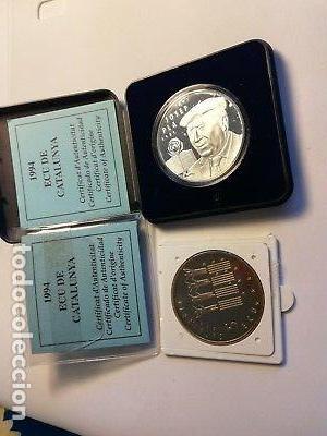 LOTE 5 Y 25 ECUS CATALUÑA AÑO 1994. (Numismática - España Modernas y Contemporáneas - Colecciones y Lotes de conjunto)