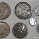 Monedas de España: LOTE DE MONEDAS BÉLGICA, USA Y FRANCIA EN PLATA DE 900 ML. PESO TOTAL 89 GR. APROX. Lote 163073126