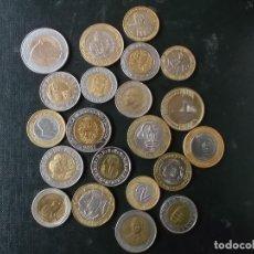 Monedas de España: CONJUNTO DE MONEDAS MUNDIALES BIMETALICAS DIFERENTES PAISES. Lote 150540866