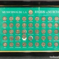 Monedas de España: COLECCIÓN COMPLETA 46 MONEDAS DE PLATA. MUNICIPIOS DE LA REGIÓN DE MURCIA ENMARCARDO. Lote 151138986