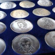 Monedas de España: LAS MONEDAS DEL BARÇA. COLECCIÓN COMPLETA DE 15 MONEDAS. Lote 151735450