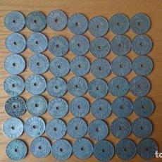 Monedas de España: LOTE DE 49 MONEDAS DE 25 CENTIMOS DE 1937 II AÑO TRIUNFAL . Lote 151842142