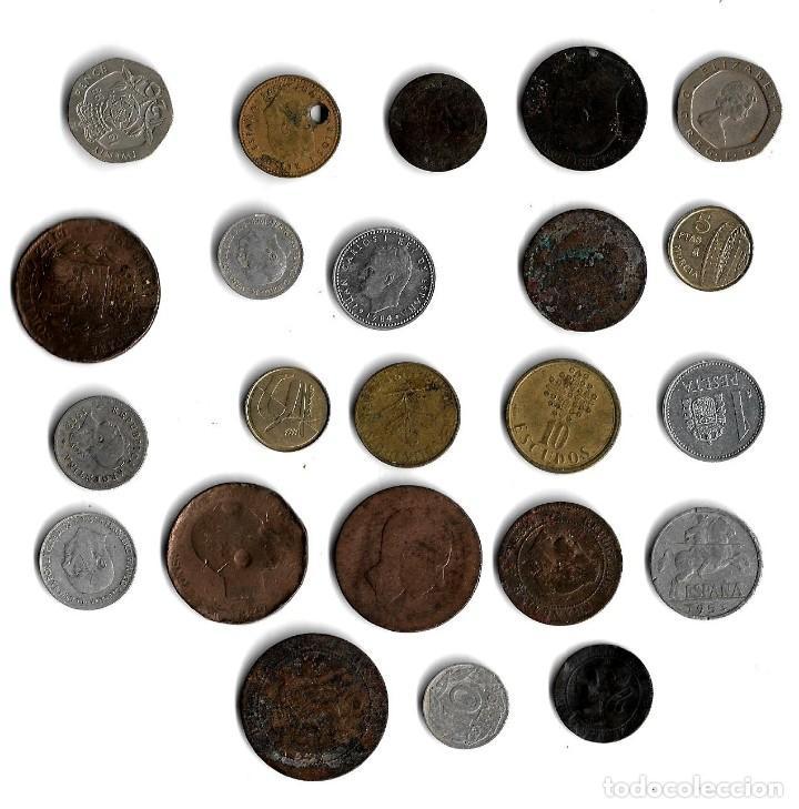 LOTE DE 23 MONEDAS DIFERENTES PAISES. (Numismática - España Modernas y Contemporáneas - Colecciones y Lotes de conjunto)