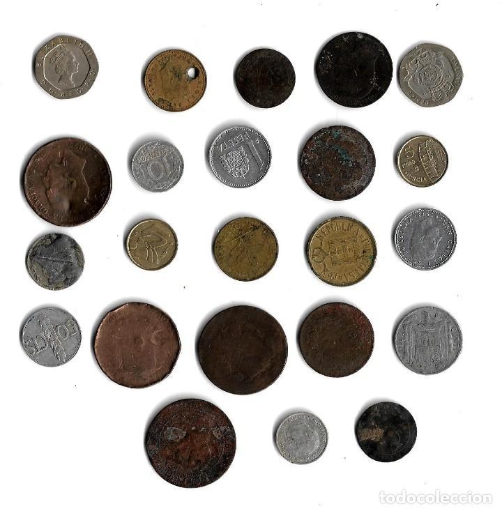 Monedas de España: Lote de 23 monedas diferentes paises. - Foto 2 - 151960790