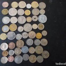 Monedas de España: CONJUNTO DE MONEDAS 50 PAISES MUNDIALES DISTINTOS DE TODOS LOS CONTINENTES. Lote 152269202