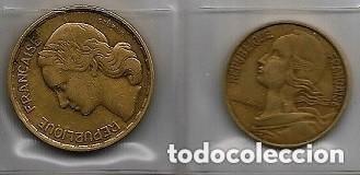 FICHA CON 27 MONEDAS AÑOS 50 Y 60 DEL S.XX, EUROPA Y AFRICA (Numismática - España Modernas y Contemporáneas - Colecciones y Lotes de conjunto)