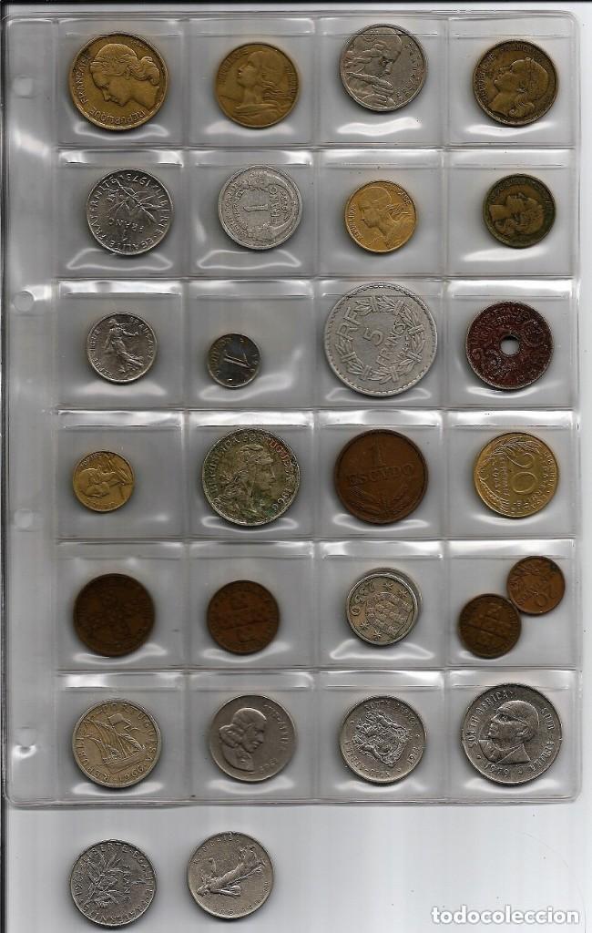 Monedas de España: Ficha con 27 monedas años 50 y 60 del S.XX, Europa y Africa - Foto 3 - 154513130