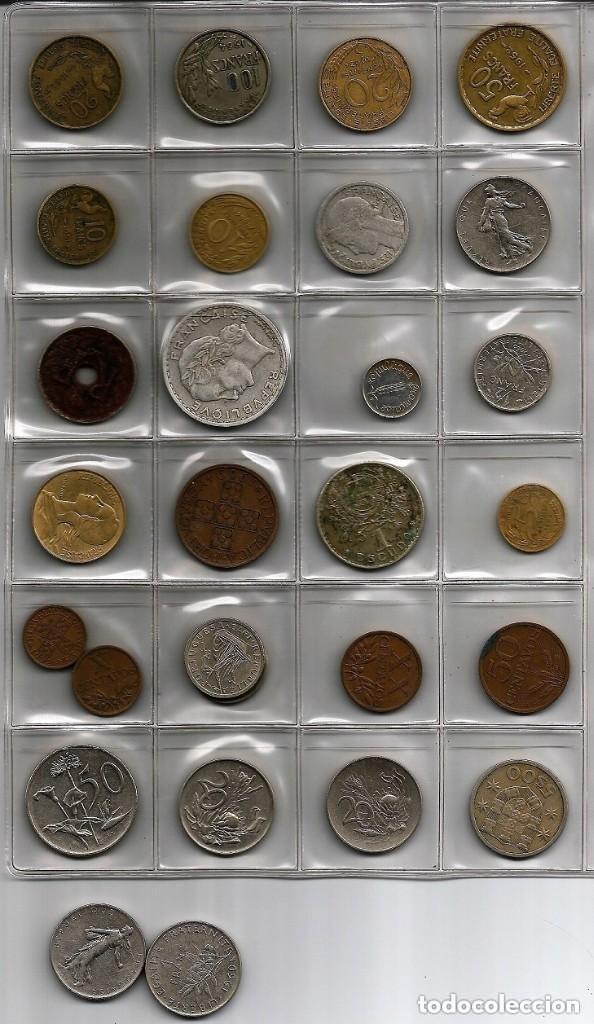 Monedas de España: Ficha con 27 monedas años 50 y 60 del S.XX, Europa y Africa - Foto 4 - 154513130