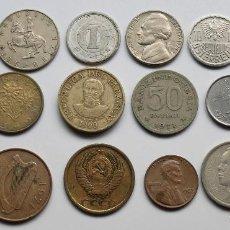 Monedas de España: COLECCIÓN DE 18 MONEDAS USADAS DE VARIOS PAÍSES. Lote 154623034