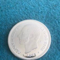 Monedas de España: HISTORIA DE LA PESETA. ALFONSO XLL . 5 PESETAS. Lote 155372853