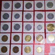 Monedas de España: LOTE DE REPRODUCCIONES DE MONEDAS ESPAÑOLAS - BAÑADAS EN ORO Y PLATA (SALEN A 2 EUROS LA UNIDAD). Lote 155455478