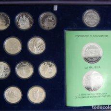 Monedas de España: 2002. ENCUENTRO ENTRE DOS MUNDOS. 5ª EMISIÓN. LA MARINA. 10 MONEDAS, MÁS UNA MEDALLA. PLATA. Lote 156828218