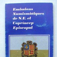 Monedas de España: PRINCIPAT ANDORRA EMISIONES NUMISMATICAS COPRINCIPE VEGUERIA EPISCOPAL ESTUCHE 5 MONEDAS.. Lote 157013966