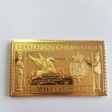 Monedas de España: CORRESPONDENCIA URGENTE , COLECCIÓN LA CASA DE BORBÓN , SELLO DE PLATA DORADA 925 . Lote 158308966