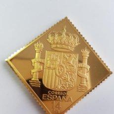 Monedas de España: CORREOS ESPAÑA , COLECCIÓN LA CASA DE BORBÓN , SELLO DE PLATA DORADA 925 . Lote 158309174