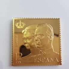 Monedas de España: ESPAÑA , COLECCIÓN LA CASA DE BORBÓN , SELLO DE PLATA DORADA 925 . Lote 158309706