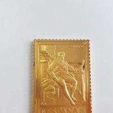 Monedas de España: ESPAÑA , COLECCIÓN LA CASA DE BORBÓN , SELLO DE PLATA DORADA 925 . Lote 158309922