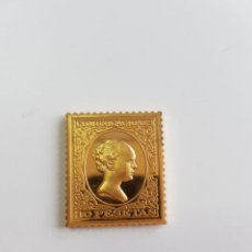 Monedas de España: COMUNICACIONES , COLECCIÓN LA CASA DE BORBÓN , SELLO DE PLATA DORADA 925 . Lote 158311094