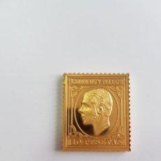 Monedas de España: CORREOS , COLECCIÓN LA CASA DE BORBÓN , SELLO DE PLATA DORADA 925 . Lote 158311450