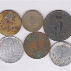 Monedas de España: LOTE DE 6 FICHAS Y COOPERATIVAS DIFERENTES (BC-EBC). Lote 158367714