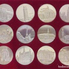 Monedas de España: LOTE DE 12 MONEDAS GRAN FORMATO DE CIUDADES EUROPEAS (MEDALLAS)VER FOTO. Lote 160397010