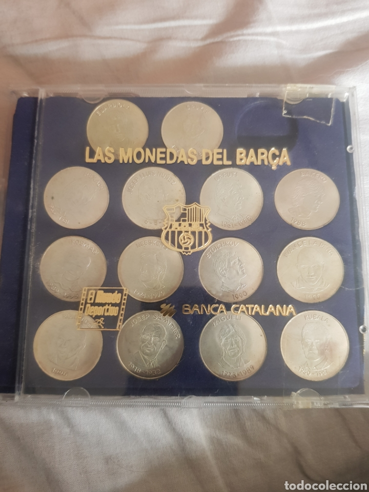 LAS MONEDAS DEL BARÇA EN PLATA EL DRAEM TEAM (Coins - Modern and Contemporary Spanish Coins - Collections and Set of Lots)