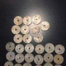 Monedas de España: LOTE MONEDAS 25 CÉNTIMOS 18 AÑO 1937 Y 10 1927. Lote 160881180