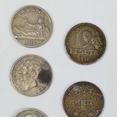 Monedas de España: 9 REPRODUCCIONES DE MONEDAS DE UNA PESETA. ESPAÑA 2000. Lote 160947422