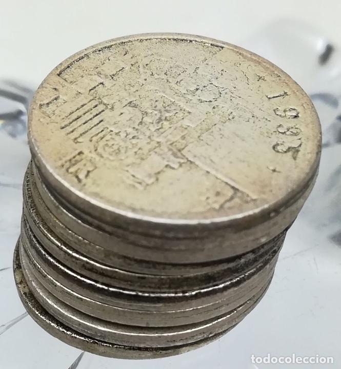 Monedas de España: 9 REPRODUCCIONES DE MONEDAS DE UNA PESETA. ESPAÑA 2000 - Foto 3 - 160947422