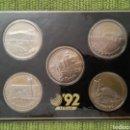 Monedas de España: 5 MONEDAS CONMEMORATIVAS DE LA EXPOSICIÓN UNIVERSAL DE SEVILLA. EXPO 92, NUEVAS.. Lote 162989821