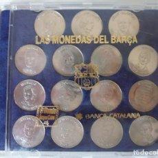 Monedas de España: MONEDAS DEL BARÇA. COLECCIÓN EN PLATA.. Lote 165189754