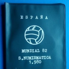 Monedas de España: CARTERA ESPAÑA MUNDIAL FUTBOL 1982 SERIE NUMISMATICA 1980 MONEDAS JUAN CARLOS I. Lote 165786677