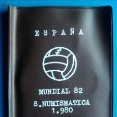 Monedas de España: CARTERA ESPAÑA MUNDIAL FUTBOL 1982 SERIE NUMISMATICA 1980 MONEDAS JUAN CARLOS I. Lote 165786710
