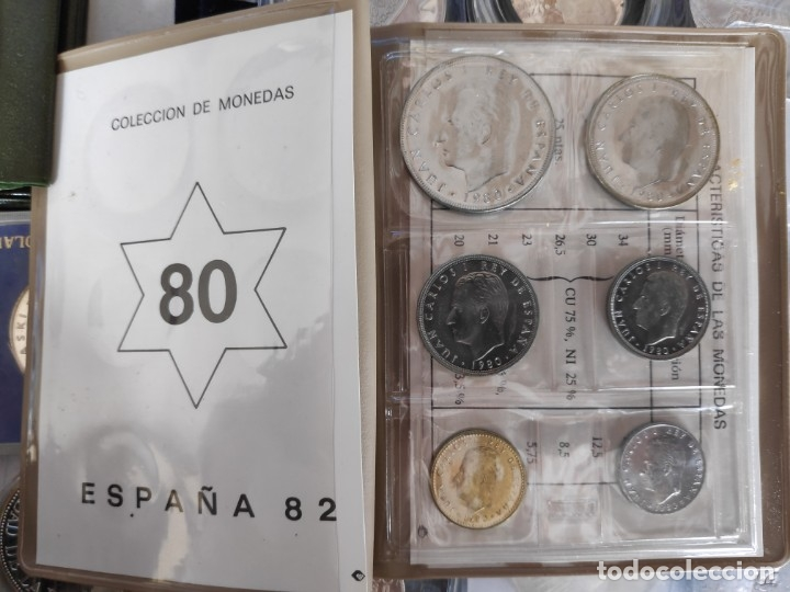 Monedas de España: ESPAÑA CARTERA ANUAL 1980. COMPLETA SERIE NUMISMÁTICA MUNDIAL 82 (AÑO 1980 ESTRELLAS *80*)FILABO - Foto 3 - 263205725